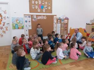 Czytanie na dywanie - wizyta Burmistrza Gminy Błażowa - Jerzego Kocój