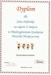 dyplom -Jan Stefanik