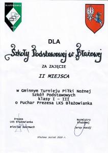 turniej piłki nożnej - dyplom